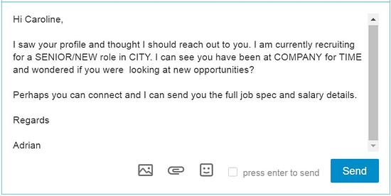 Linkedin message 1